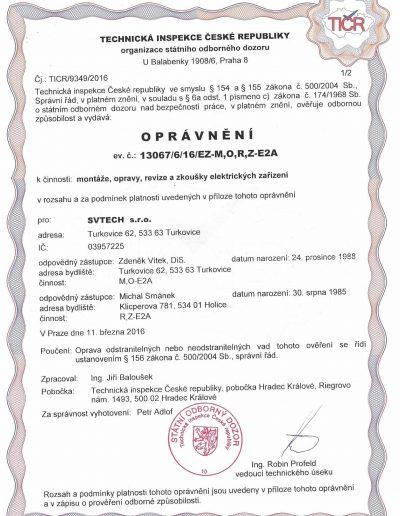 Genehmigung zur Installation elektrischer Geräte