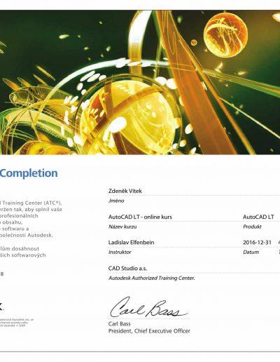 AUTOCAD LT-Zertifikat
